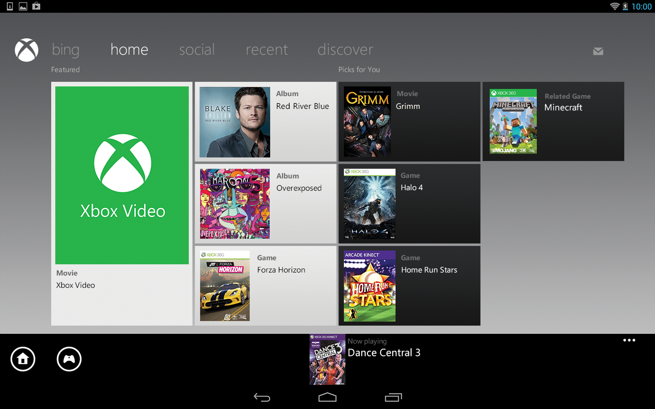 Xbox 360 SmartGlass - screenshot