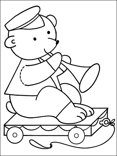 Coloring Book Christmas Toys