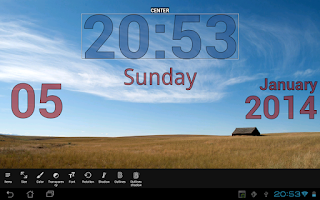 Screenshot of DIGI Clock Live Wallpaper