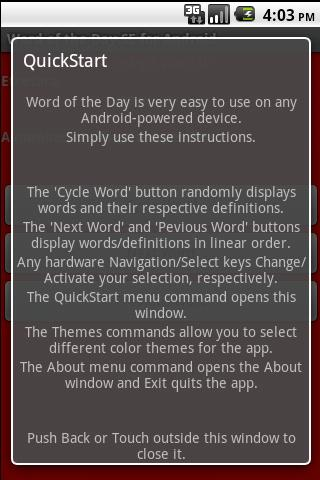 Word of the Day SE- screenshot