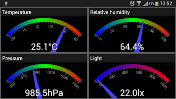 Screenshot of Galaxy S4 Sensors