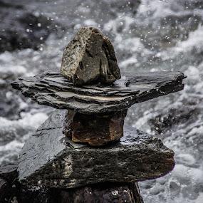 Inukshuk by Tammy Drombolis - Nature Up Close Rock & Stone (  )