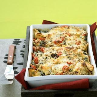 Lasagna with Sausage and Kale.