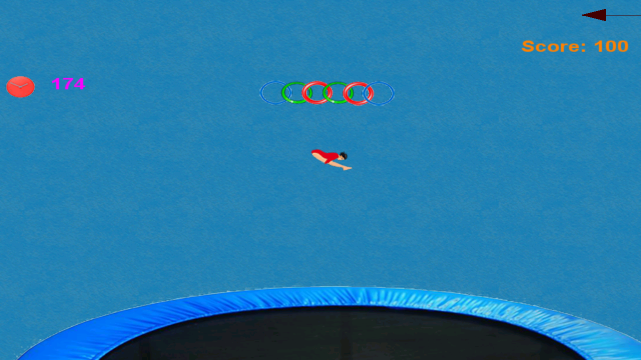 Gymnastics Trampoline - screenshot