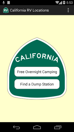 California RV Locations  screenshots 1