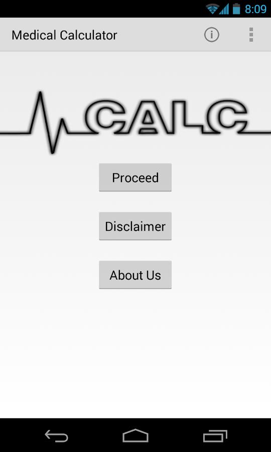 Medical Calculator- screenshot