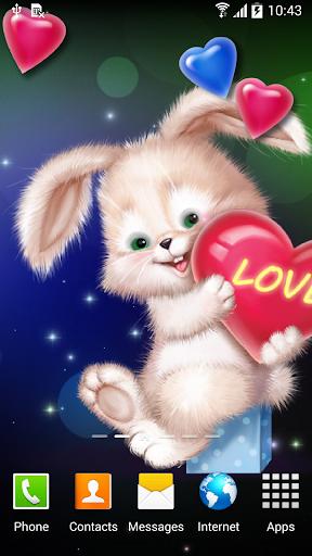 mod Cute Bunny Live Wallpaper 1.0.7 screenshots 2