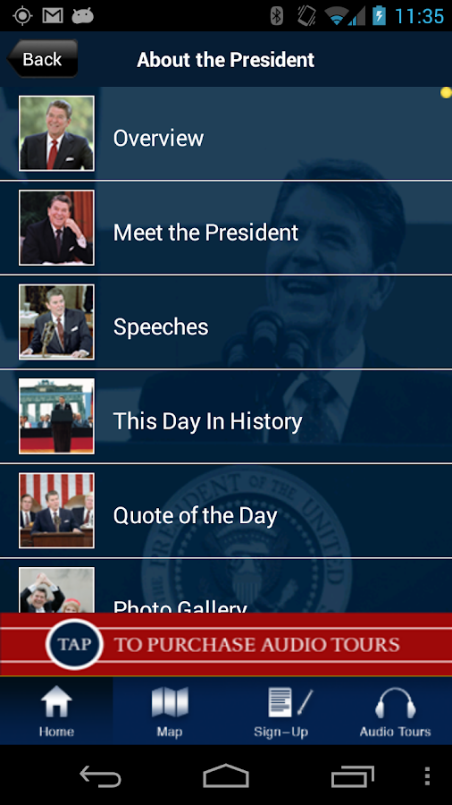 Ronald Reagan: Official App- screenshot