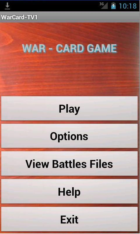 War Card Game - screenshot