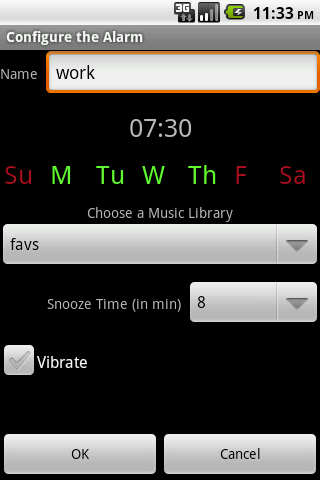 Music Alarm Megalarm Lite - screenshot