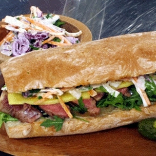 Steak Sandwich with Cheese and Coleslaw Recipe