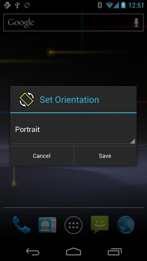 Set Orientation - screenshot