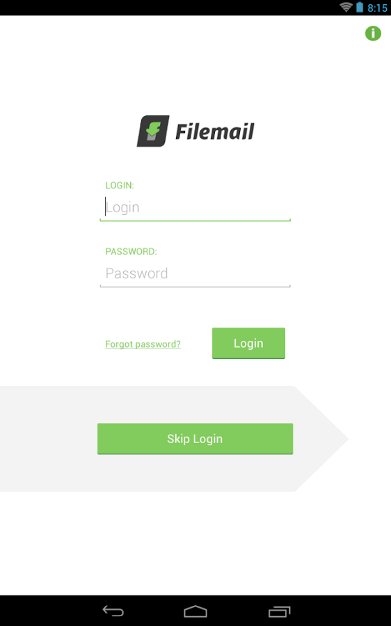 Filemail: Send large files: captura de pantalla