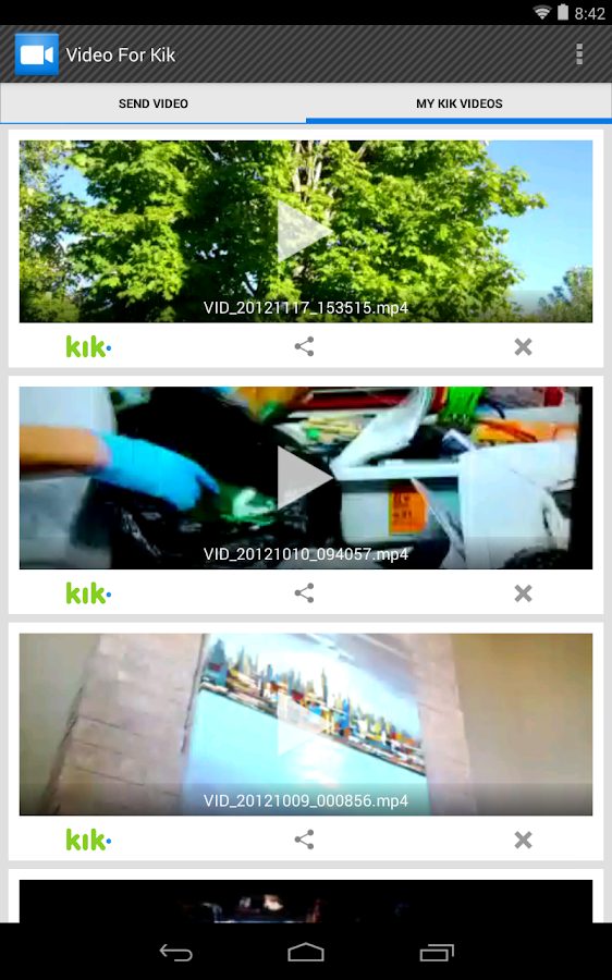 Video For Kik - screenshot