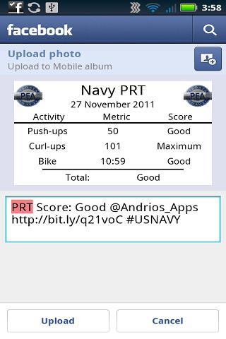 navy pt test chart