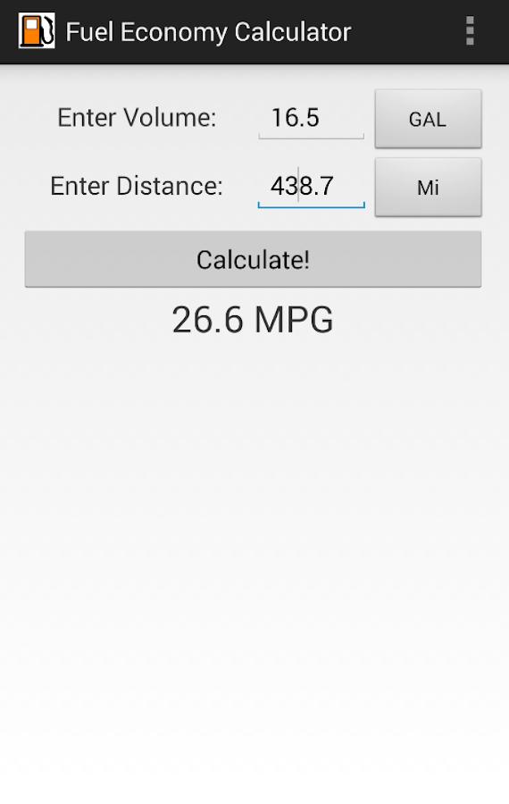 mileage and gas calculator