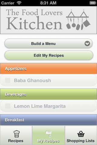 myKitchen - screenshot