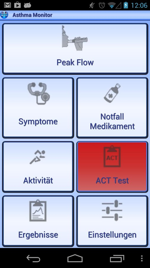 Asthma Monitor- screenshot