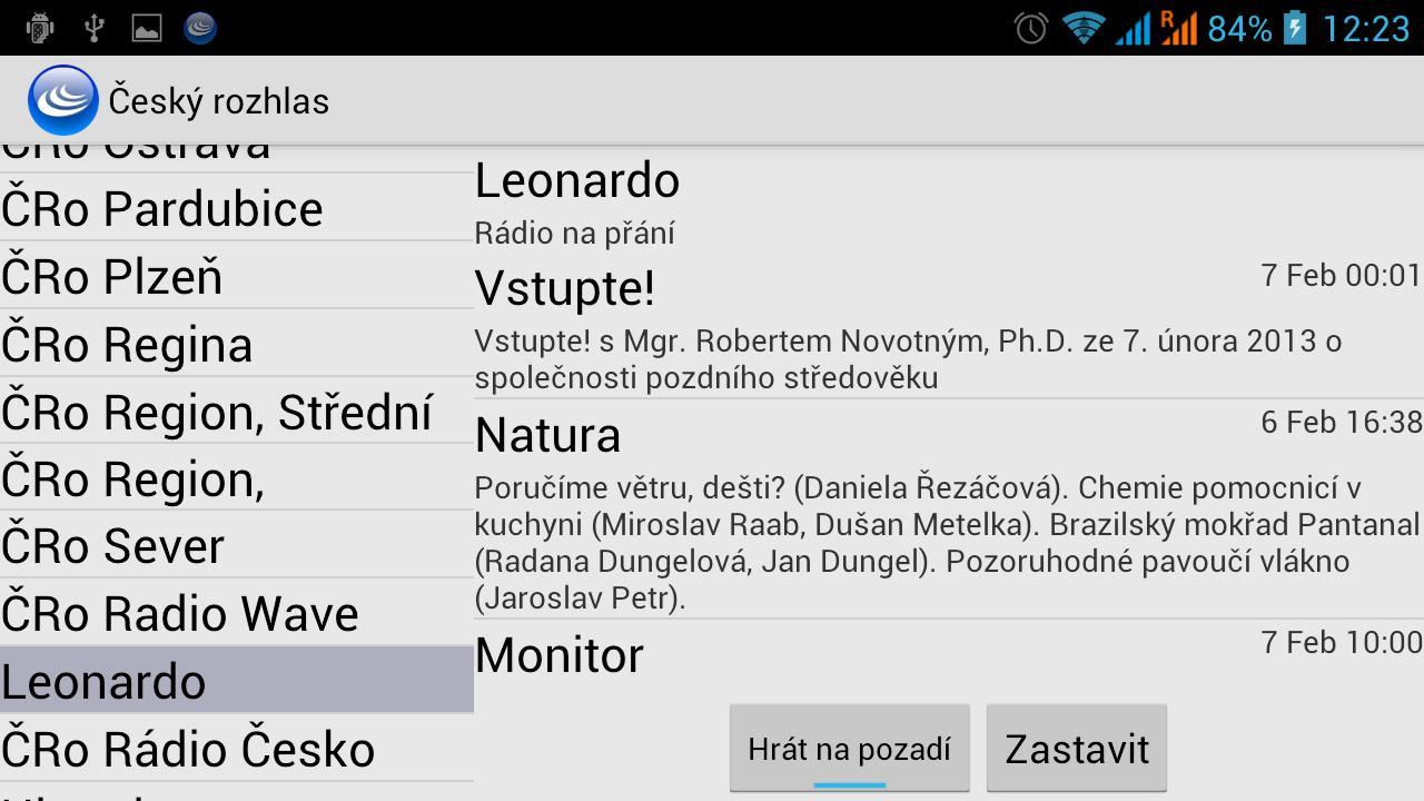 Cesky rozhlas (Unofficial) - screenshot