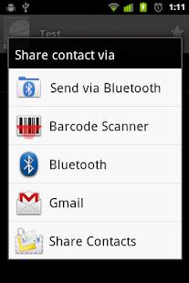 Share Contacts- screenshot thumbnail
