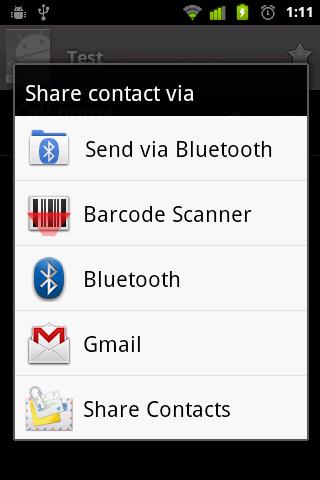 Share Contacts- screenshot