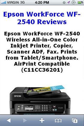 WF2540 Inkjet Printer Reviews