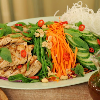 Grilled Chicken Salad with Thai Lime-Chile Vinaigrette.