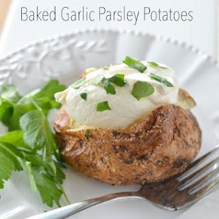 Air Fryer Baked Garlic Parsley Potatoes