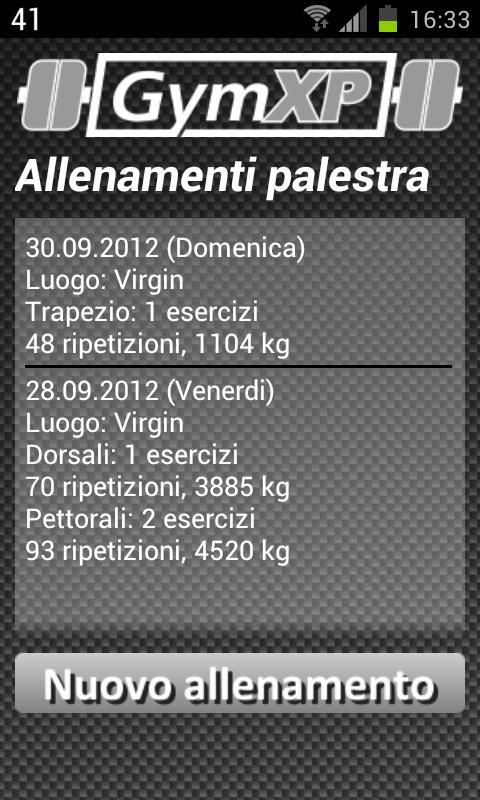 GymXP - versione italiana - screenshot
