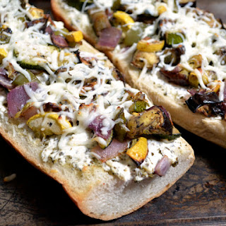 Roasted Vegetable French Bread Pizza