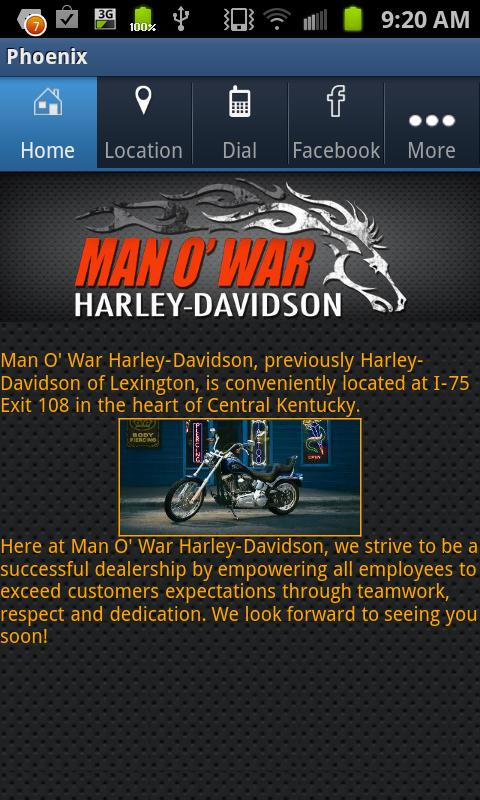 Man O' War Harley-Davidson - screenshot