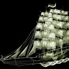 silver filigree ship TURKEY by Ahmet Güler - Artistic Objects Still Life ( silver filigree ship turkey )