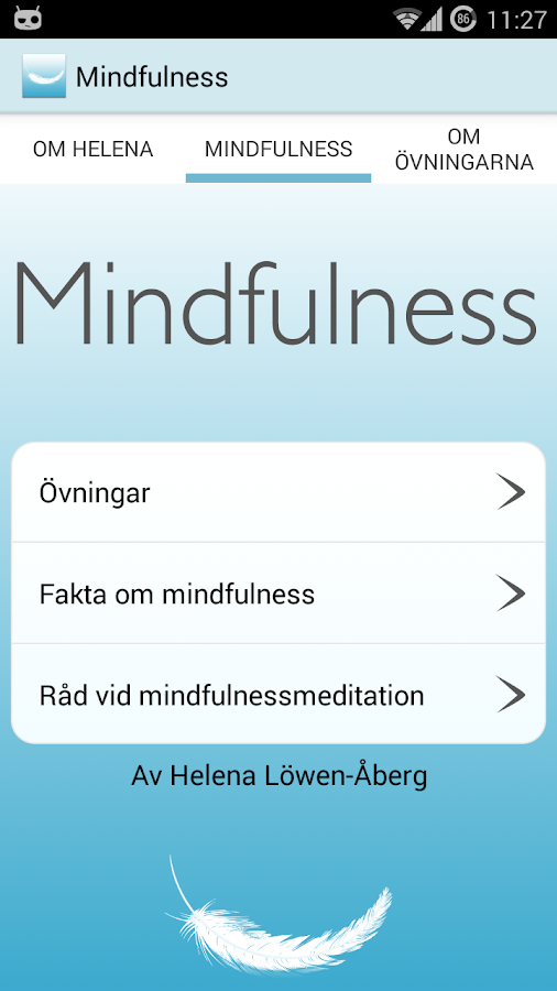 Mindfulness- screenshot