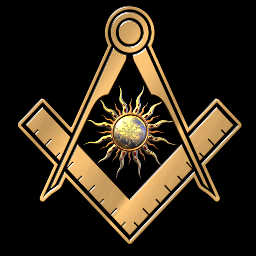 Freemason Gold Square Compass Live Wallpaper V100