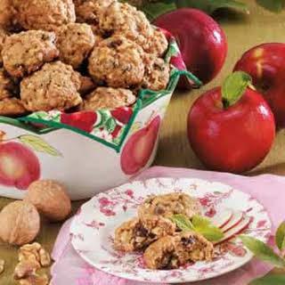 Walnut Raisin Apple Cookies.