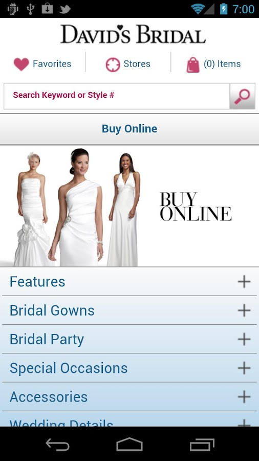 David's Bridal - screenshot