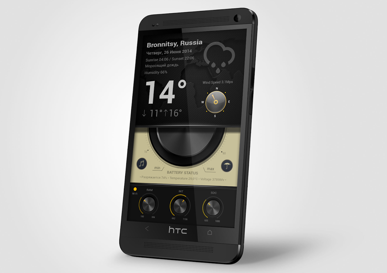 KNOBz Zooper Widget Skin - screenshot