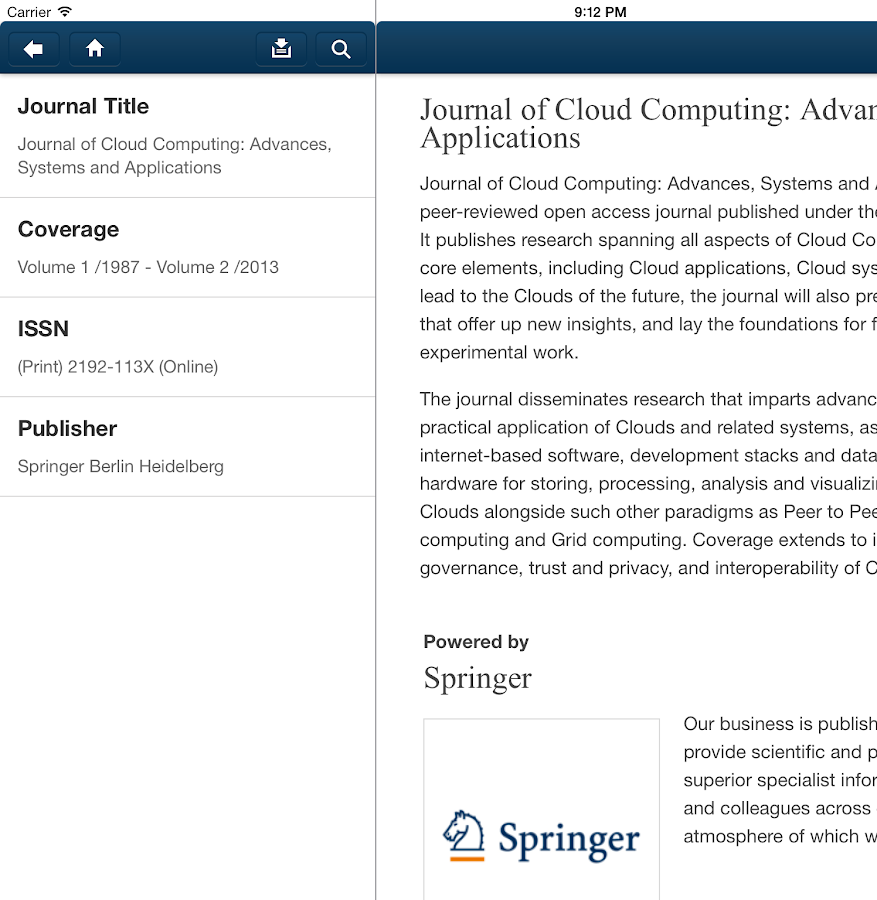 J of Cloud Computing ASA- screenshot