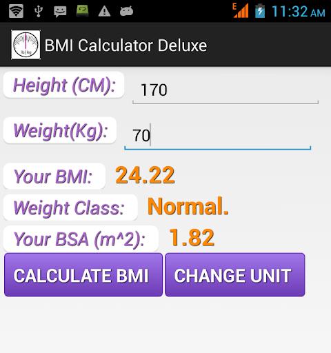 BMI Calculator Deluxe