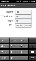 Screenshot of RTI Calculator