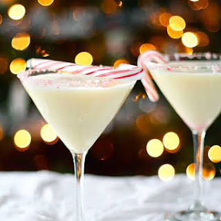 Creamy Dairy-Free Candy Cane Cocktail.