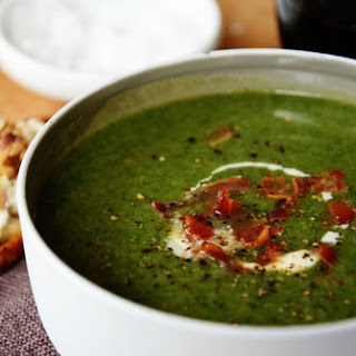 Spinach Soup with Pancetta