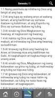 Screenshot of Bibliya Tagalog Bible LIBRE!