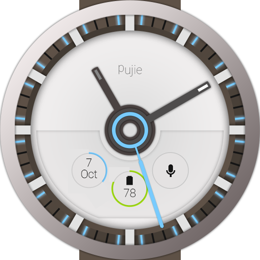 Pujie Blue - Wear Watch Face 0 Apk Download - com pujie