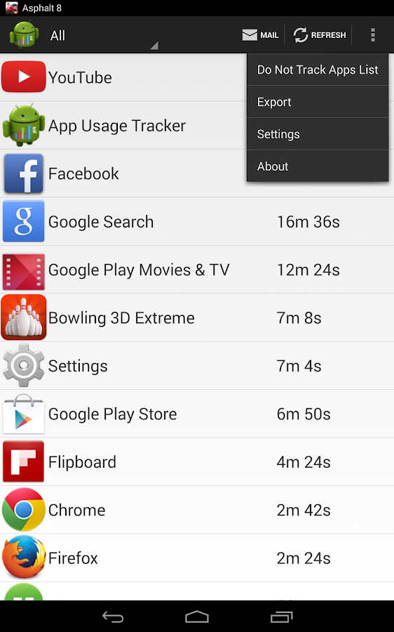 App Usage Tracker- screenshot