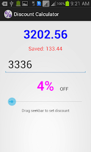 Discount Calculator screenshot 1