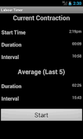 Screenshot of Labour Timer