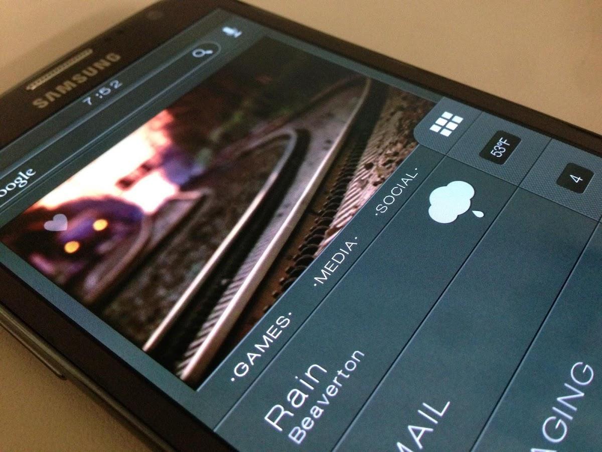 Gmail themes city - Dark City Theme Zooper Skin Screenshot