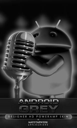 poweramp skin android grey