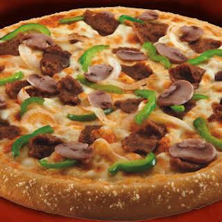 Domino's Cheese Steak Pizza.